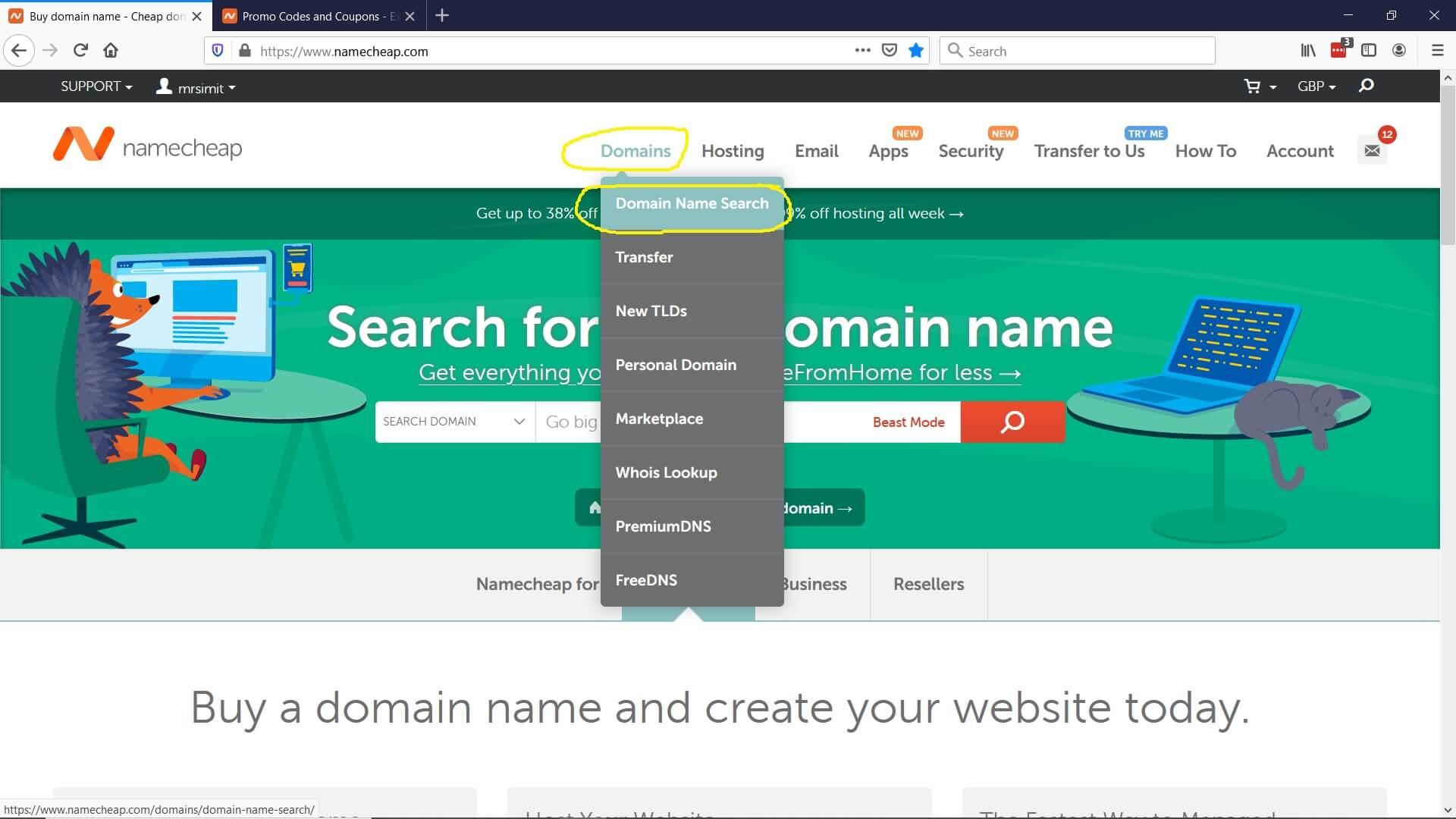 Domain Name Register 1
